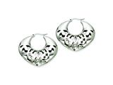 Chisel Stainless Steel 40mm Fancy Cutout Hoop Earrings style: SRE509