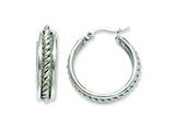 Chisel Stainless Steel 20mm Twisted Middle Hoop Earrings style: SRE510