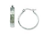 Chisel Stainless Steel Textured Hoop Earrings style: SRE512