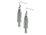 Chisel Stainless Steel Multistrand Ball Chain Dangle Earrings style: SRE519