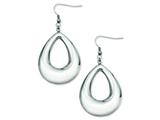 Chisel Stainless Steel Hollow Teardrop Dangle Earrings style: SRE530