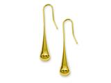 Chisel Stainless Steel Yellow Ip-plated Dangle Earrings style: SRE535GP