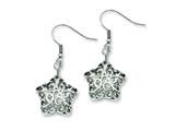 Chisel Stainless Steel Small Puffed Star Dangle Earrings style: SRE537