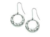 Chisel Stainless Steel Fancy Textured Hoop Dangle Earrings style: SRE546
