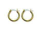 Chisel Stainless Steel Gold Ip Plated 19mm Hoop Earrings style: SRE558