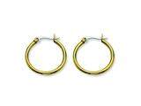 Chisel Stainless Steel Gold Ip Plated 26mm Hoop Earrings style: SRE559