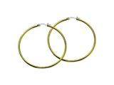 Chisel Stainless Steel Gold Ip Plated 60mm Hoop Earrings style: SRE563