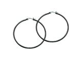 Chisel Stainless Steel Black Ip Plated 60mm Hoop Earrings style: SRE570