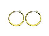 Chisel Stainless Steel Gold Ip Plated Tapered 34mm Hoop Earrings style: SRE572