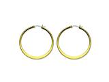 Chisel Stainless Steel Gold Ip Plated Tapered 43mm Hoop Earrings style: SRE573