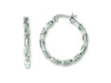 Chisel Stainless Steel Polished and Textured Hoop Earrings style: SRE580