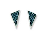 Chisel Stainless Steel Blue Crystal Triangles Post Earrings style: SRE584