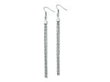 Chisel Stainless Steel Long Dangle Earrings style: SRE588