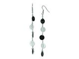 Chisel Stainless Steel Black Ip-plated and Polished Discs Dangle Earrings style: SRE590