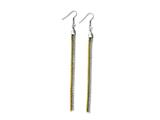 Chisel Stainless Steel Yellow Ip-plated and Polished Dangle Earrings style: SRE591