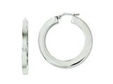 Chisel Stainless Steel Polished Hollow 30mm Flat Hoop Earrings style: SRE631