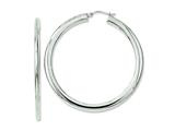 Chisel Stainless Steel Polished Hollow Hoop Earrings style: SRE657