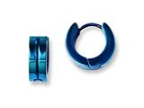 Chisel Stainless Steel Blue Ip-plated Hinged Hoop Earrings style: SRE673