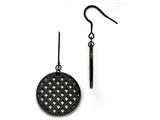 Chisel Stainless Steel Black Ip-plated Dangle Earrings style: SRE683