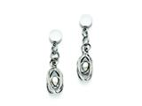 Chisel Stainless Steel Polished Post Dangle Earrings style: SRE695