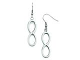 Stainless Steel Brushed/polished Dangle Infinity Earrings style: SRE697