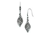 Chisel Stainless Steel Crystal Antiqued Shepherd Hook Dangle Earrings style: SRE705