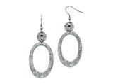 Chisel Stainless Steel Antiqued Shepherd Hook Dangle Earrings style: SRE706