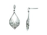 Chisel Stainless Steel CZ Shepherd Hook Dangle Earrings style: SRE710