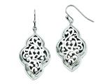 Chisel Stainless Steel Shepherd Hook Dangle Polished Earrings style: SRE715