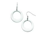 Chisel Stainless Steel Polished Circle Shepherd Hook Earrings style: SRE726