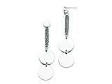 Chisel Stainless Steel Polished Post Dangle Circle Earrings style: SRE729