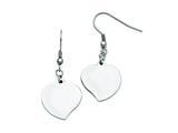 Chisel Stainless Steel Polished Heart Shepherd Hook Earrings style: SRE730