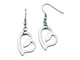 Chisel Stainless Steel Polished Heart Shepherd Hook Earrings style: SRE731