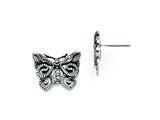 Chisel Stainless Steel Butterfly Marcasite Post Earrings style: SRE736