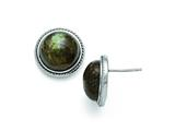 Chisel Stainless Steel Polished Labradorite Post Earrings style: SRE742