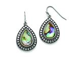 Chisel Stainless Steel Synthetic Abalone Polished/antiqued Earrings style: SRE752