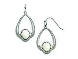 Chisel Stainless Steel Polished/textured Mother Of Pearl Earrings style: SRE756