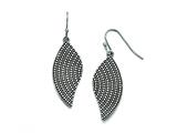 Chisel Stainless Steel Polished/antiqued Wing Earrings style: SRE764