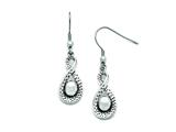 Chisel Stainless Steel Polished/antiqued Infinity Dangle Earrings style: SRE774