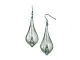 Chisel Stainless Steel Polished/brushed Cz Shepherd Hook Earrings style: SRE775