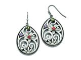Chisel Stainless Steel Polished/antiqued Multicolor Cz Earrings style: SRE791