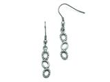 Chisel Stainless Steel Polished Cz Shepherd Hook Earrings style: SRE808