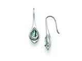Chisel Stainless Steel Blue Glass Teardrop Shepherd Hook Earrings style: SRE823