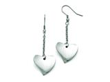Chisel Stainless Steel Polished Heart Earrings style: SRE831