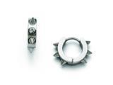 Chisel Stainless Steel Polished Spikes Hoop Earrings style: SRE844
