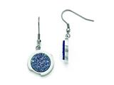 Chisel Stainless Steel Polished With Blue Druzy Stone Earrings style: SRE846