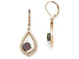 Chisel Stainless Steel Polished Rose Ip-plated Shell And Druzy Earrings style: SRE865