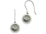 Chisel Stainless Steel Polished Black Mop/druzy Shepherd Hook Earrings style: SRE866