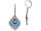 Chisel Stainless Steel Polished Enamel Crystal And Druzy Lever Back Earrings style: SRE875