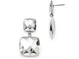 Chisel Stainless Steel Polished Hollow Squares Post Dangle Earrings style: SRE888